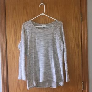 Gray and white light weight sweater